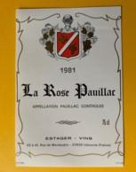 3984 - La Rose Pauillac 1981 - Bordeaux