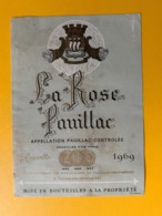 3985 - La Rose Pauillac 1969 - Bordeaux