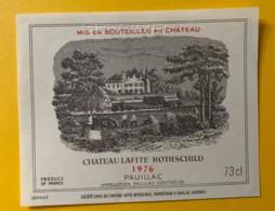 3986 - Château Lafite-Rotschild 1976 Pauillac Spécimen - Bordeaux