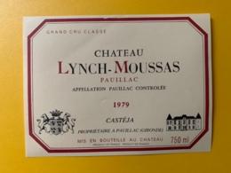 3991 - Château Lynch-Moussas 1979 Pauillac - Bordeaux