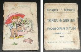 "Rare Petit Calendrier 1953, Illustrations Enfants, Pub ""Tondu & Sonier"" Horlogerie Bijouterie, Romorantin 41 - Calendriers"