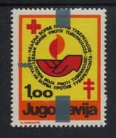 Yugoslavia Charity Stamp TBC 1978 Overprint 1988 Cross Of Lorraine Red Cross Week Tuberculosis Displaced Overprint RARE - Rode Kruis