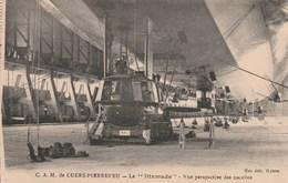 Carte Postale Ancienne - C.A.M. De Cuers-Pierrefeu - Le Dixmude - Vue Perspective Des Nacelles - Dirigibili