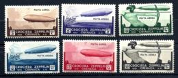 6 TIMBRES POSTE AÉRIENNE ITALIA CIRENAICA- CROCIERA ZEPPELIN 1933- N° 22 à 27- NEUFS* TRACE DE CHARNIERE- GOMME - Zeppelins
