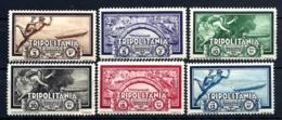 6 TIMBRES POSTE AÉRIENNE ITALIE TRIPOLITANIA- ZEPPELIN 1933- N°31 à 36 - NEUFS* TRACE DE CHARNIERE- GOMME - Zeppelins