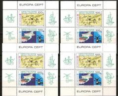 Cept 1983 Chypre Turc Turks Cyprus 4 Ex. Bloc 4 *** MNH Cote 160 Euro - Chypre (Turquie)