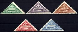 5 TIMBRES P.A. PARAGUAY- GRAF ZEPPELIN 1932-N°51 à 55- TRIANGLES NEUFS** SANS CHARNIERE- GOMME D'ORIGINE- - Zeppelins