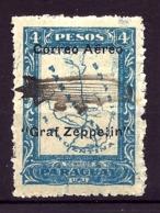 TIMBRES POSTE AÉRIENNE ARGENTINA- ZEPPELIN-N°45 PIQUÉ EN LIGNE- NEUFS* AVEC TRACE DE CHARNIERE- GOMME D'ORIGINE- - Zeppelins