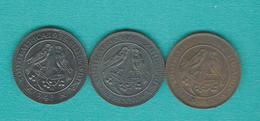 George V - Farthing / ¼ Penny - 1924 (KM12.1) 1928 (KM12.2) & 1935 (KM12.3) - Afrique Du Sud