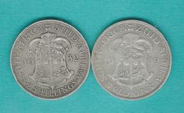 George V - 1 Florin / 2 Shillings - 1929 (KM18) & 1932 (KM22) - Afrique Du Sud