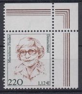 Bund 2158 Frauen (XX) 220 Pf/1,12 € Eckrand Rechts Oben Postfrisch - BRD