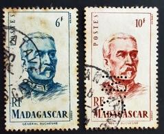 Madagascar Yt 314, 315 Général DUCHESNE Oblitération TANANARIVE & TAMATAVE Used 1 Timbre Perforé C.N - Madagascar (1889-1960)