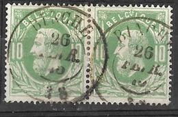 _8S-601: N° 30: Dc Op Paar : BINCHE - 1869-1883 Leopoldo II