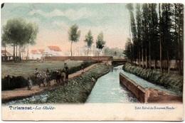 Tirlemont Tienen La Ghète De Gete  Anmiatie !! Edit Hôtel Du Nouveau Monde 1902 In Kleur A Perwez - Tienen