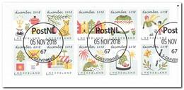 Nederland 2018, NVPH ?, Gestempeld USED, Christmas - Periode 2013-... (Willem-Alexander)