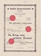 MORESNET KÖNIGLICHE HARMONIE-GESELLSCHAFT  HARMONIE ROYALE 1932 - Programma's