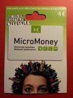GERMANY - MICROMONEY - MUSTER 4 Euros - Deutsch Telecom DEMO TEST TRIAL CADEAU GIFT CARD (SACROC) - Gift Cards