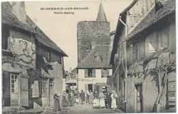 87- SAINT-GERMAIN-les-BELLES - PLACE DU PETIT BARRY - Belle CPA Animée 1906 - France