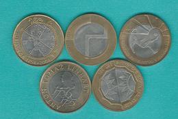 500 Tolarjev - 2002 (KM45) 2003 (KM50) 2004 (KM57) 2005 (KM63) 2006 (KM65) - Slovénie