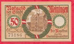 Allemagne 1 Notgeld De 50 Pfenning Stadt Meiningen UNC N °2466 - Collections
