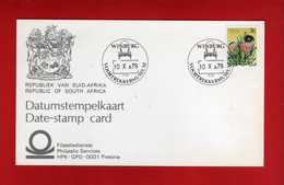 (Riz1) SOUTH AFRICA . RSA - 1979 - CARD. Winburg- Voortrekkermuseum - 10/10/1979.  Vedi Descrizione. - Storia Postale