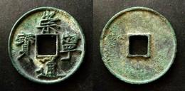 CHINA   CHONG NING TONG BAO - 10 CASH - LARGE COIN  - SLENDER GOLD SCRIPT - CHINE - Chine