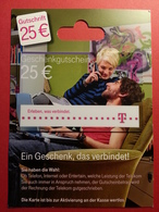 GERMANY - T Gutschrift - MUSTER 25 Euros - Deutsch Telecom DEMO TEST TRIAL CADEAU GIFT CARD (SACROC) - Cartes Cadeaux