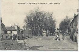 87- SAINT-GERMAIN-les-BELLES - PLACE DU CHAMP DE FOIRE - Belle CPA Animée 1906 - Charette Et Barriques - France