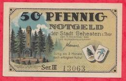 Allemagne 1 Notgeld De 50 Pfenning Stadt Lehesten In Thür  UNC N °2474 - [ 3] 1918-1933 : République De Weimar