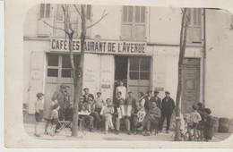 CPA - PHOTO - VENCE - CAFE RESTAURANT DE L'AVENUE - MIRAILLET - TRES ANIMEE - - Vence