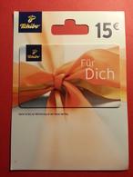 GERMANY - TCHIBO - MUSTER 15 Euros - DEMO TEST TRIAL CADEAU GIFT CARD (SACROC) - Cartes Cadeaux