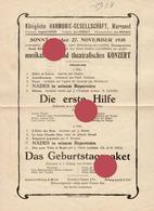 MORESNET KÖNIGLICHE HARMONIE-GESELLSCHAFT  HARMONIE ROYALE 1938 KONZERTE - Programma's