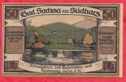 Allemagne 1 Notgeld De 50 Pfenning Stadt Bad Sachsa UNC N °2480 - [ 3] 1918-1933 : République De Weimar