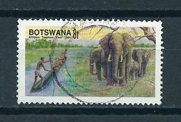 1991 Botswana Elephants Used/gebruikt/oblitere - Botswana (1966-...)