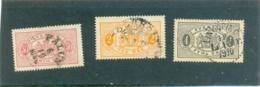1881 Y & T N° 10 + 1891 Y & T N° 15 Et 16 ( O ) - Service