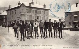 GERARDMER   -  Depart D'un Groupe De Skieurs - Gerardmer