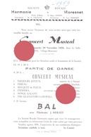 MORESNET ( Plombières ) SOCIETE ROYALE  HARMONIE 1959 Concert - Programma's