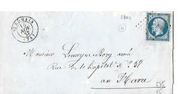 Seine-inferieure 76 PC Sur 14A + CàD Type15 De St Romain Indice 4 - Marcophilie (Lettres)