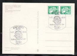 DDR 1985, Ansichtskarte Erfurt Mit, 2 SStpl. Kaktus / GDR 1982, Picture Postcard Erfurt With 2x Spec. Postmark Cactus - Sukkulenten