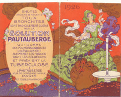 PETIT CALENDRIER DE POCHE SOLUTION PAUTAUBERGE  PARIS 1925 - Calendriers