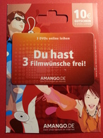 GERMANY - AMANGO - MUSTER 10 Euros - Du Hast 3 Film DEMO TEST TRIAL CADEAU GIFT CARD (SACROC) - Gift Cards