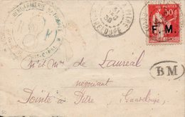 GUADELOUPE Franchise Militaire N°7-1938 Cachet GENDARMERIE NATIONALE PETIT CANAL-Courrier Local - Guadalupe (1884-1947)