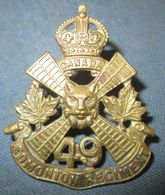 Cap Badge Canada WW1 49th Bat.CEF - 1914-18