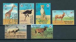 1978 Niger Complete Set WWF Animals,fauna,dieren,tiere Used/gebruikt/oblitere - Niger (1960-...)