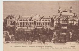 CPA - MONTE CARLO - ENSEMBLE DU CASINO ET LES JARDINS- 14 - L. L. - Monte-Carlo