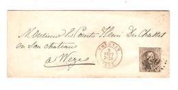 PR7014/ TP 6 S/LSC C.Tournay + Obl.à Barres 120 1855 Et Boîte C V.Comte à Weze C.d'arrivée Antoing - Postmark Collection