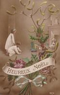 Carte Postale Ancienne Fantaisie - Heureux Nöel - Enfants - Otros