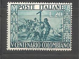 Italia - Serie Completa Nuova: 5° Centenario Della Nascita Di Colombo - 1951 * G - 6. 1946-.. Republic