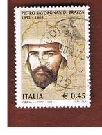 ITALIA REPUBBLICA  -   2005   SAVORGNAN DI BRAZZA'      -   USATO  ° - 6. 1946-.. Repubblica