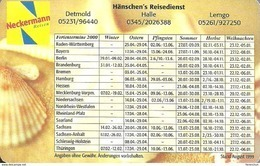 SNAIL SHELL CLAM STARFISH NECKERMANN TRAVEL BUREAU DETMOLD HALLE LEMGO CALENDAR * Hanschen's Reisedienst 2000 * Germany - Calendriers